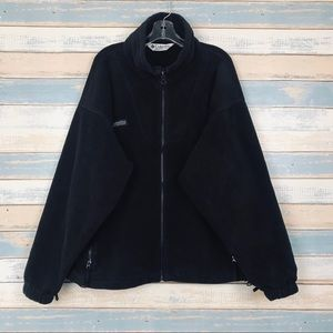 Columbia • Women's Black Fleece Zip Jacket Large